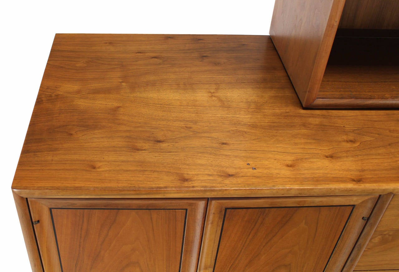 Drexel Declaration Two Part Cabinet In Excellent Condition For Sale In Blairstown, NJ