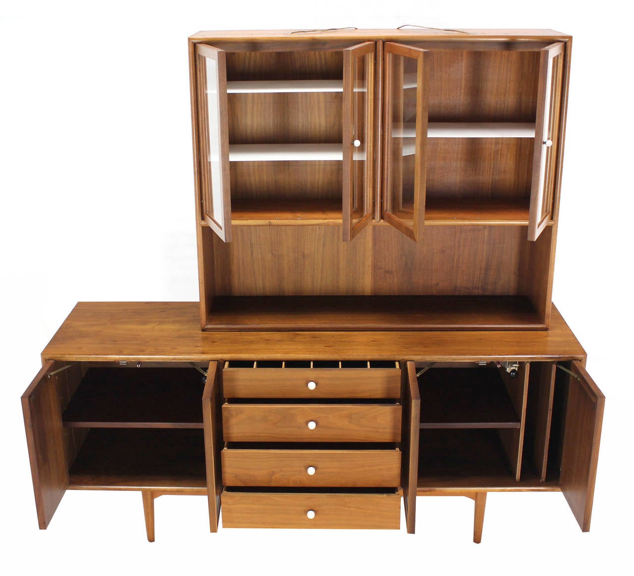Lacquered Drexel Declaration Two Part Cabinet For Sale