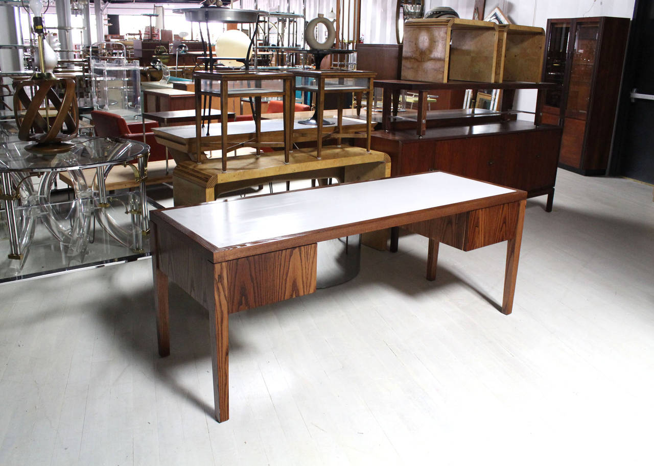 Amazing photo of Marble Top Mid Century Modern Long Vanity or Desk at 1stdibs with #916A3A color and 1280x913 pixels