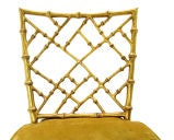 Faux Bamboo Gold Metal Frame Chair. thumbnail 8