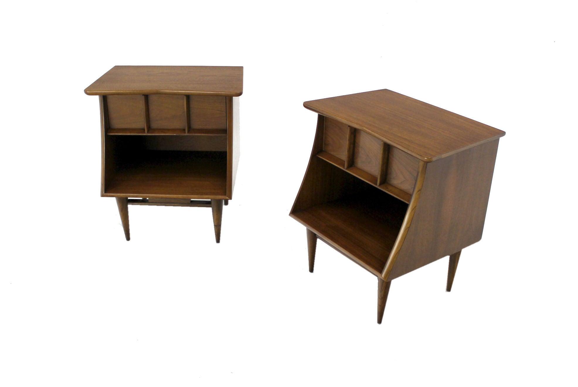 Pair of Danish Mid-Century Modern Walnut End Tables