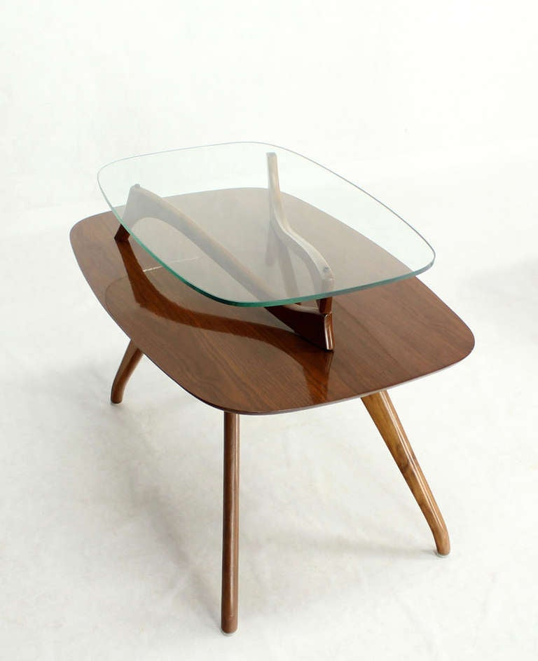 Pair Of Mid Century Modern Organic Shape End Tables Or Nightstands At 1stdibs
