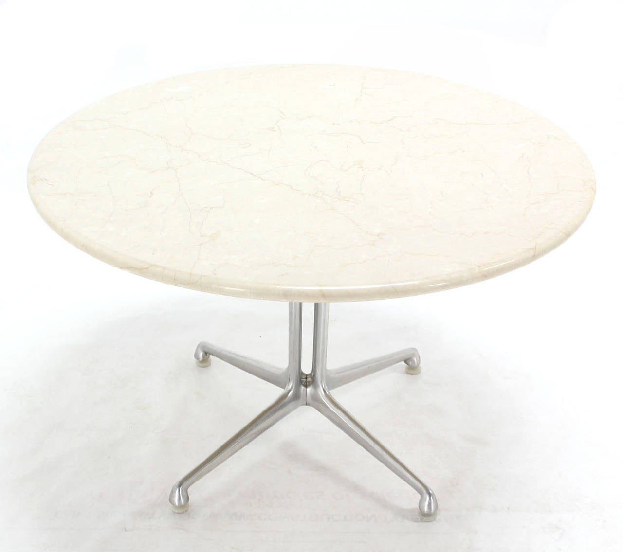 La fonda charles eames white marble top coffee table at for Eames style coffee table