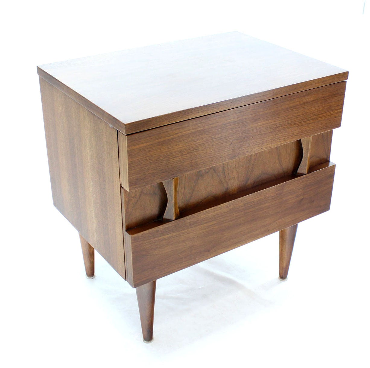 20th Century Danish Mid-Century Modern Walnut End Table or Night Stand For Sale