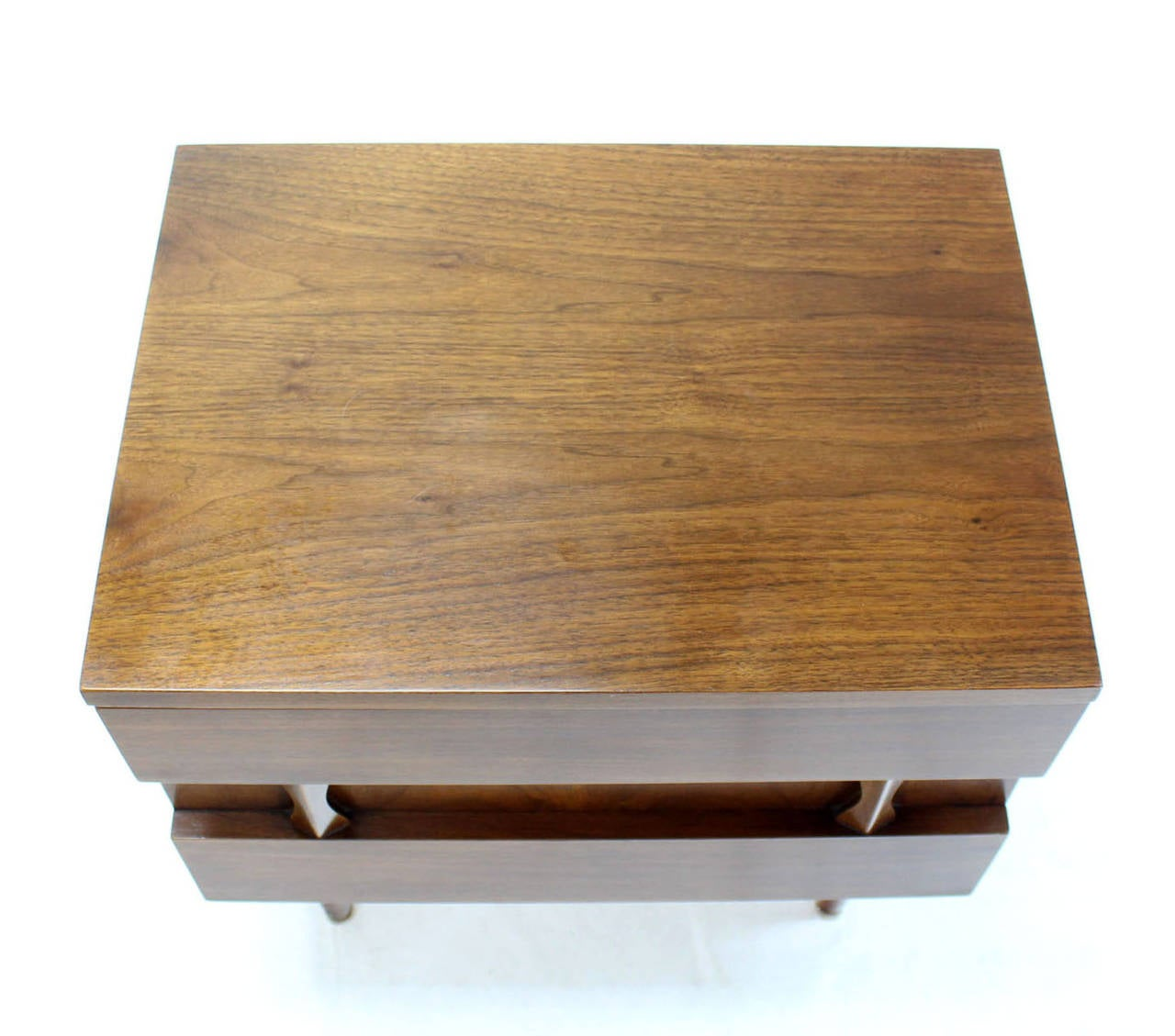 American Danish Mid-Century Modern Walnut End Table or Night Stand For Sale