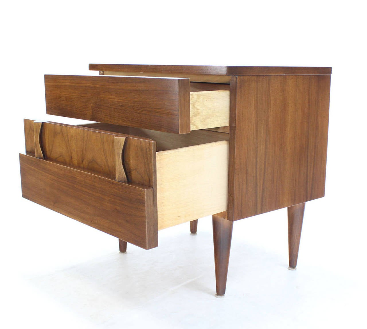 Very nice Danish modern walnut night stand. Excellent vintage condition.