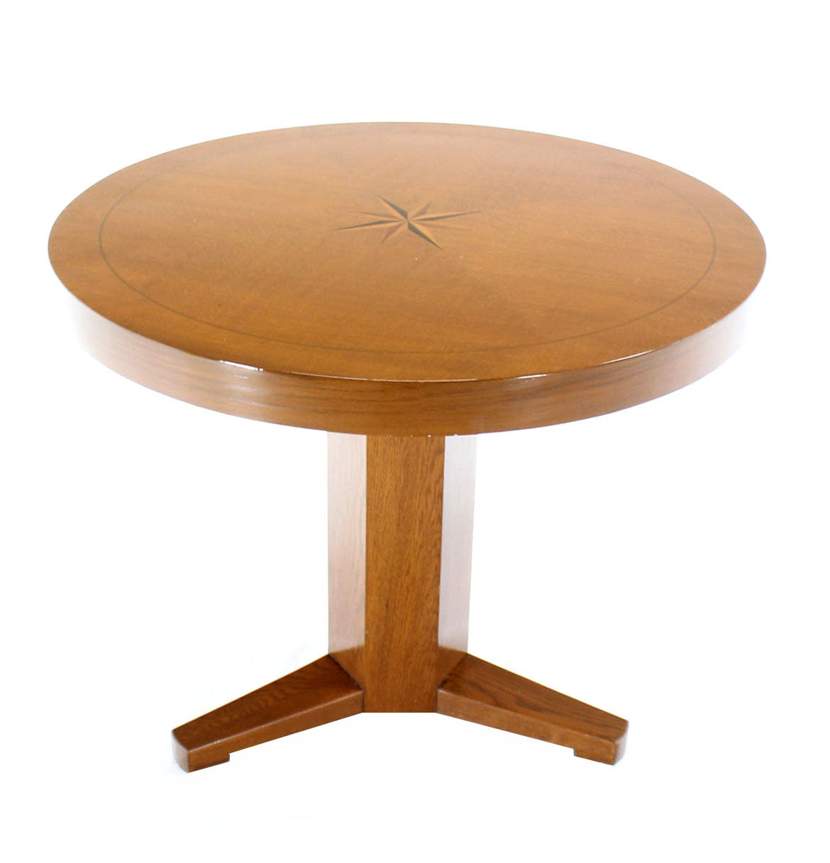 Round center or breakfast table with modern inlay design for Round centre table designs