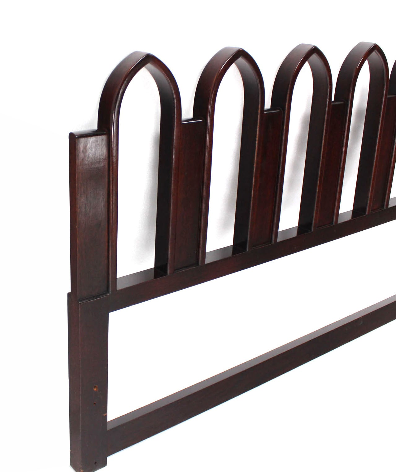 Carved Harvey Probber Style Cultured King-Size Headboard For Sale