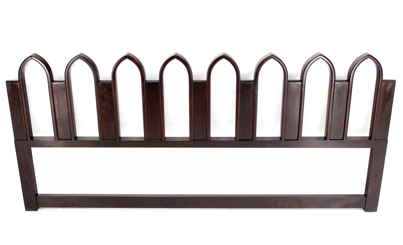 Mahogany Harvey Probber Style Cultured King-Size Headboard For Sale