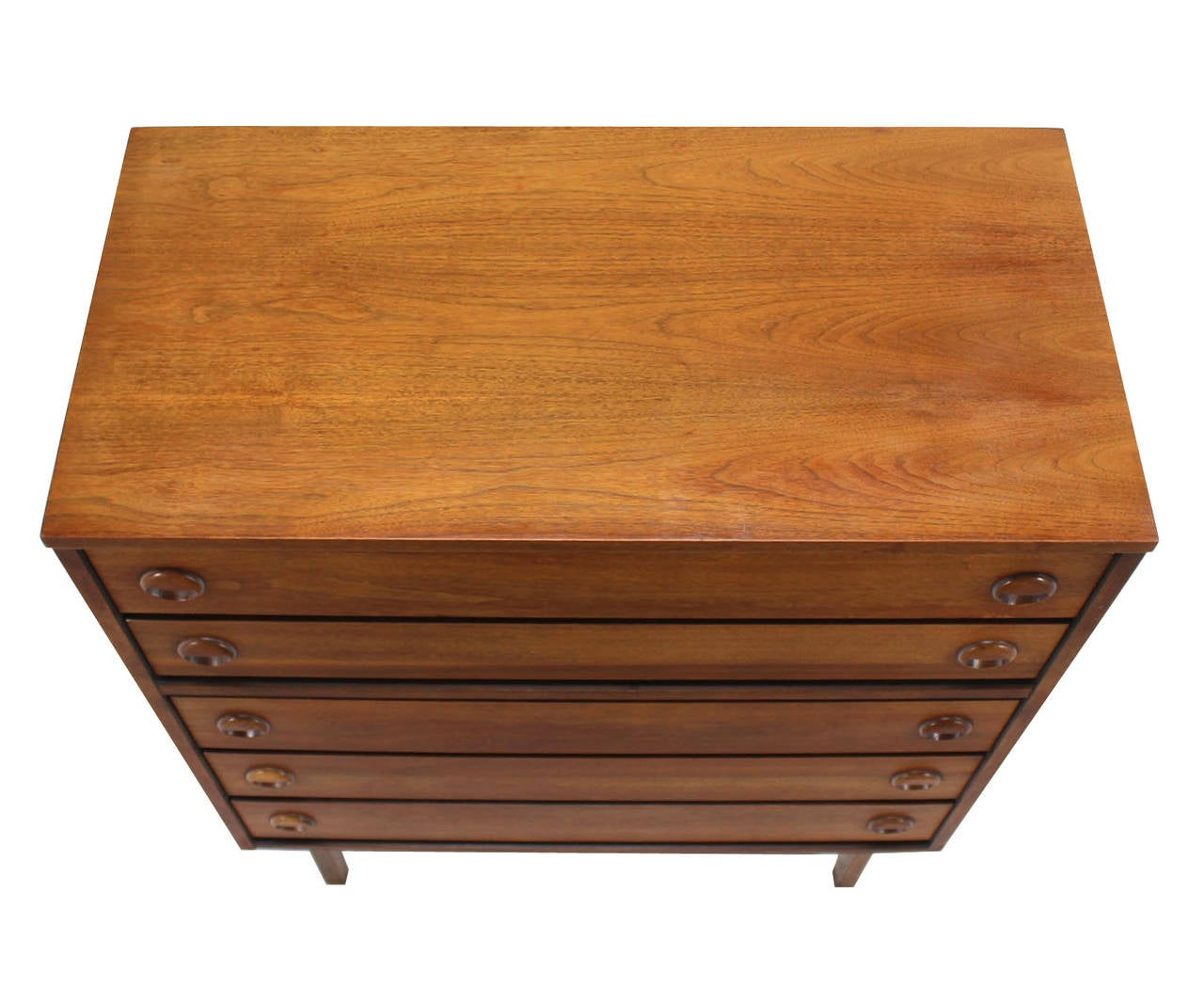 Mid-Century Danish Modern Walnut High Chest of Drawers or Dresser 4