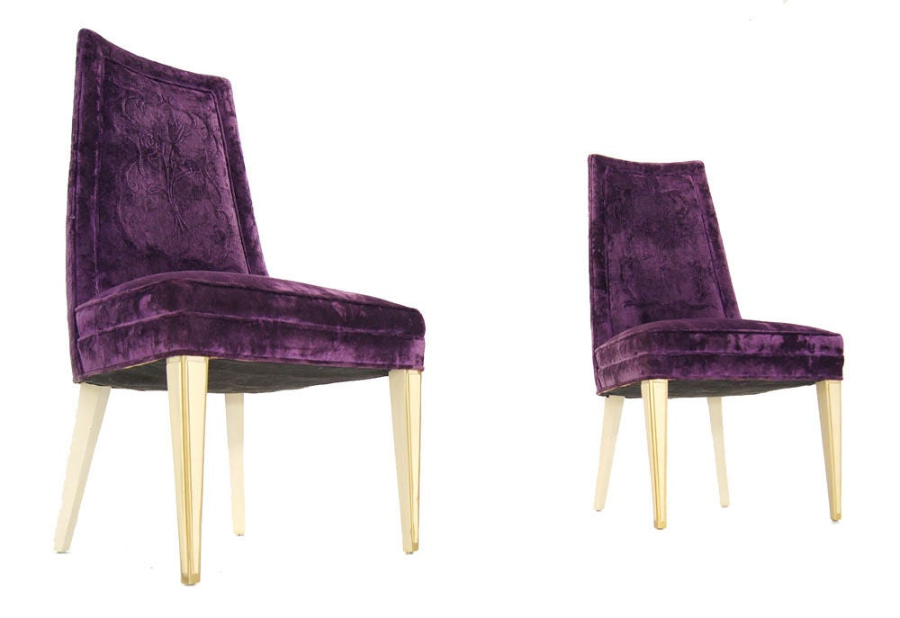 Vermont purple velvet pair of fabric dining chairs pictures to pin on