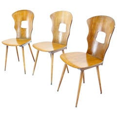 Set of Three Molded Plywood Chairs