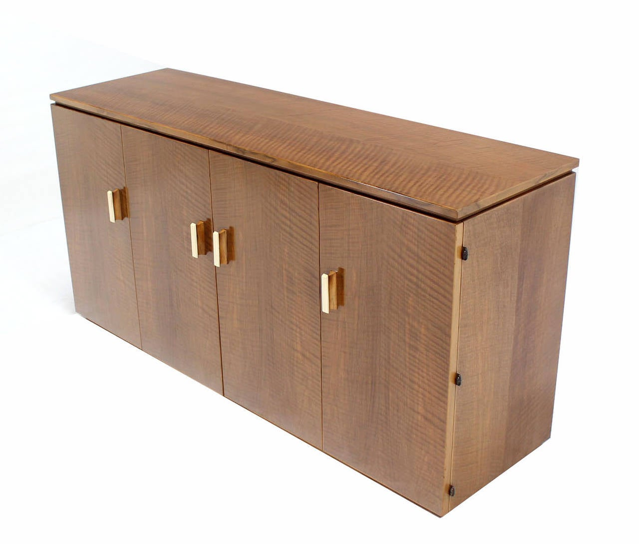 Mid century modern folding doors long dresser credenza cabinet in mint condition.