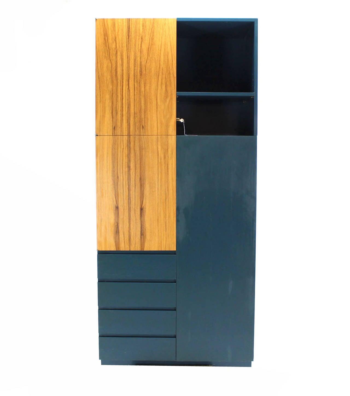 American Signed Vladimir Kagan Modern Tall Liquor Cabinet Bar. For Sale
