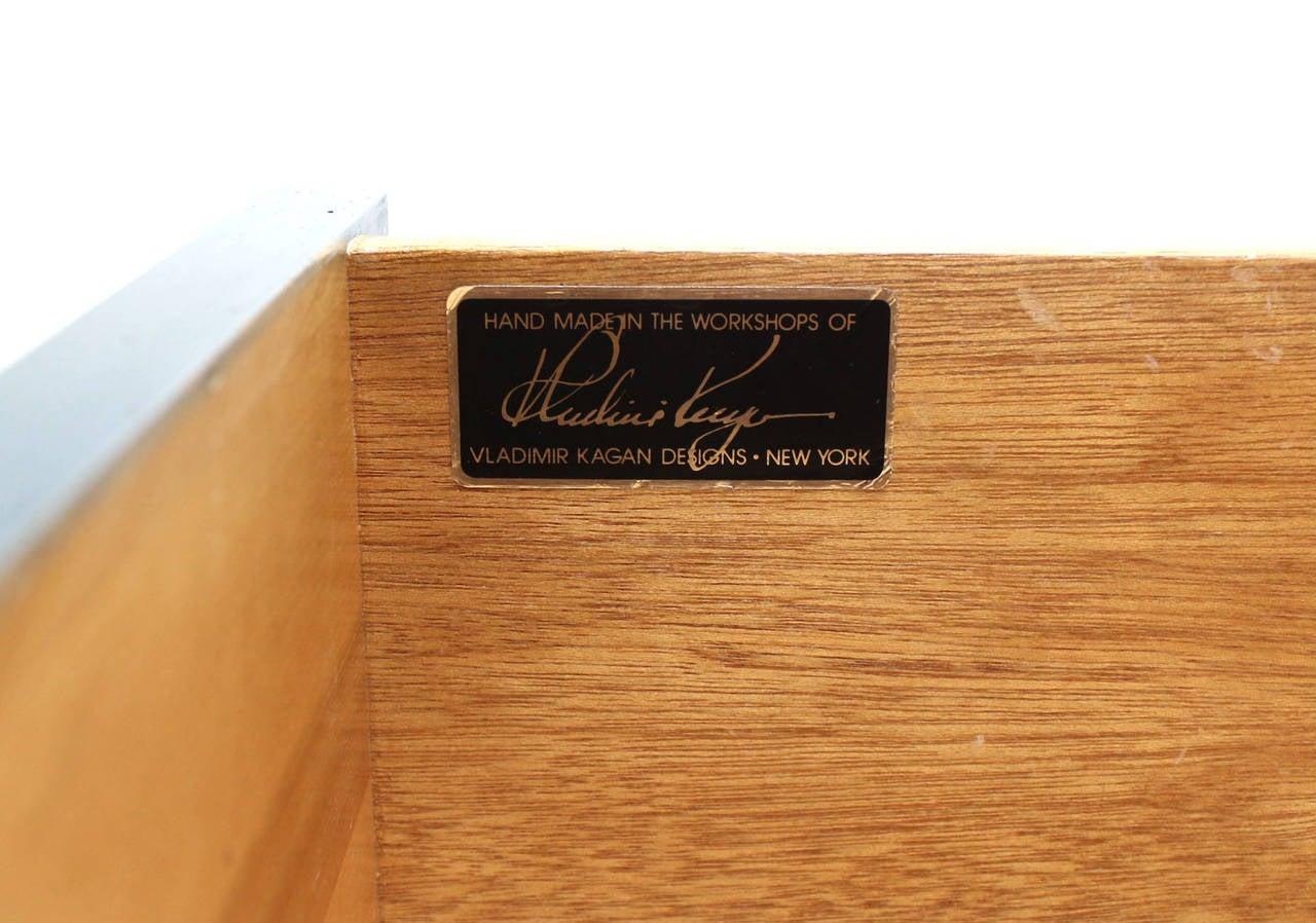 Mid-Century Modern Signed Vladimir Kagan Modern Tall Liquor Cabinet Bar. For Sale