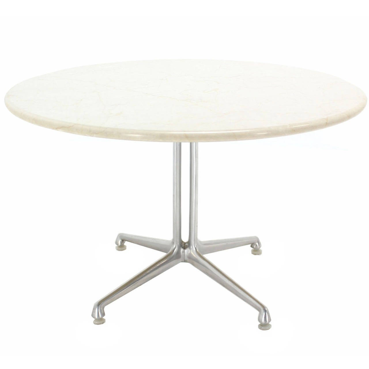 Exceptional La Fonda, Charles Eames White Marble Top Coffee Table 1