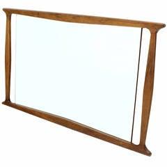 Mid-Century Modern Walnut Frame Mirror