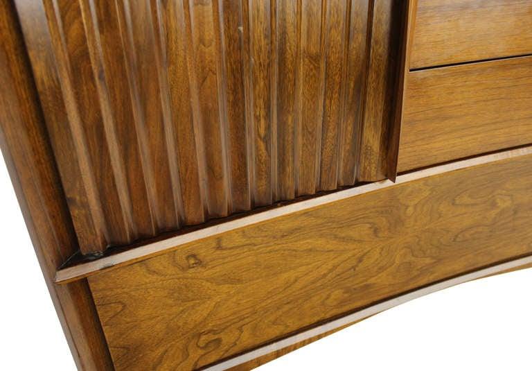 Lacquered Edmond Spence Mid Century Danish Modern Walnut High Chest Dresser For Sale