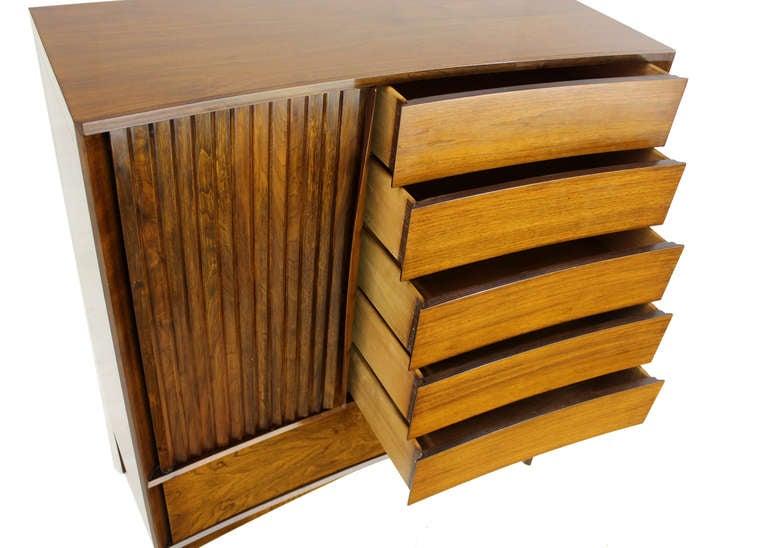 Mid-Century Modern Edmond Spence Mid Century Danish Modern Walnut High Chest Dresser For Sale