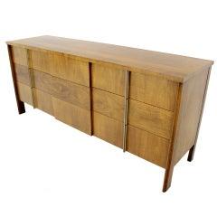 Mid-Century Modern Burl Walnut John Widdicomb Dresser or Credenza