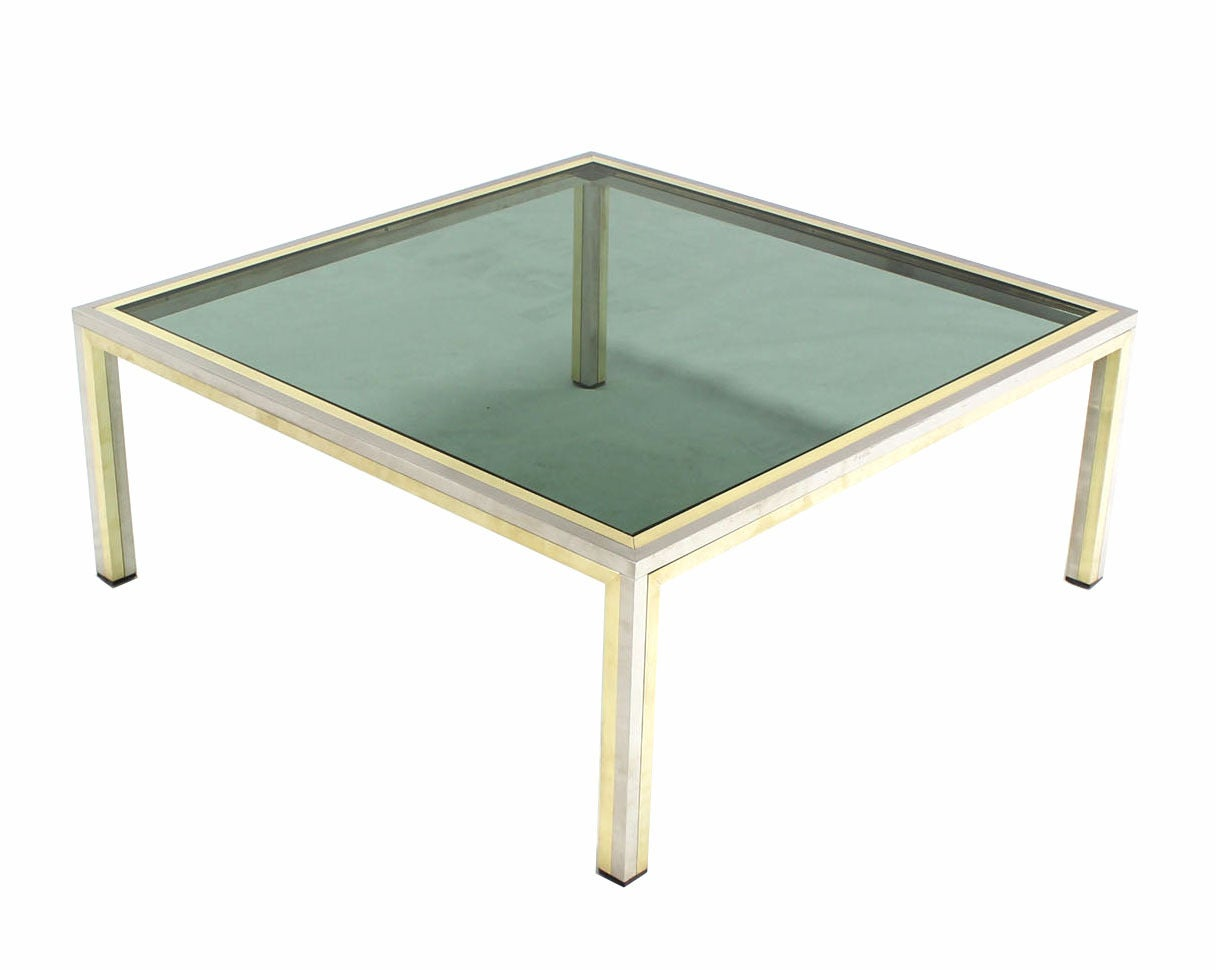 square coffee tables for sale square brass chrome and glass coffee table by romeo rega 8206