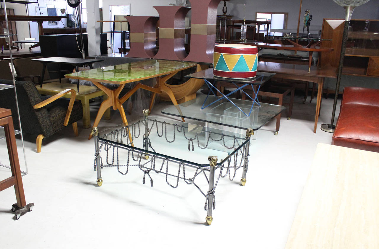 Nice ornate decorative mixed metal coffee table.