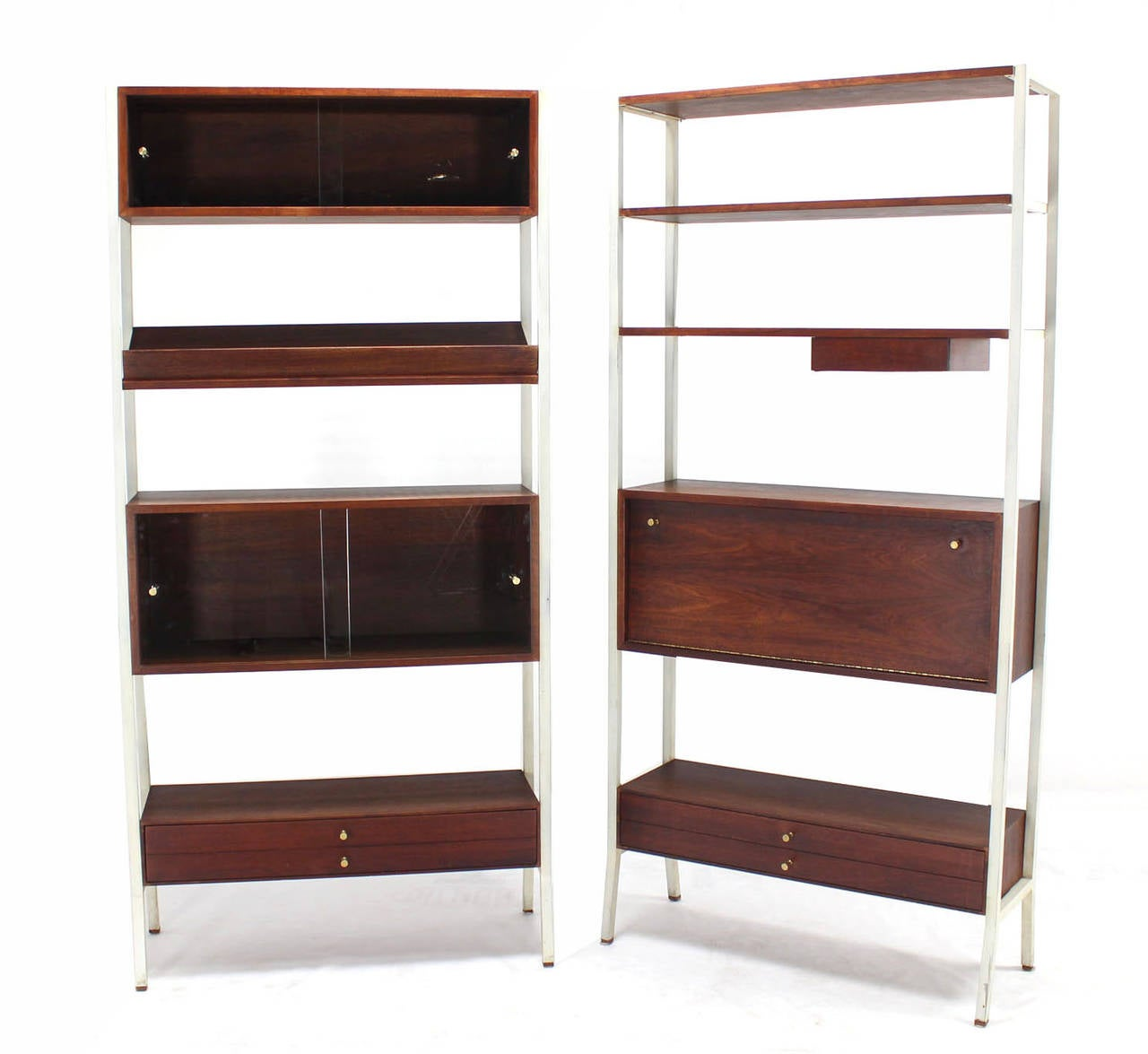two part walnut wall unit shelving bookcases at 1stdibs walnut wall shelves uk walnut wall shelves floating