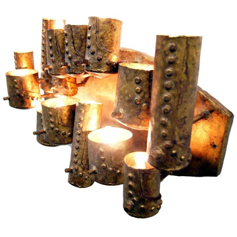 Decorative wall multi light forged metal work sconces spain at 1stdibs - Decorative wall lighting ...