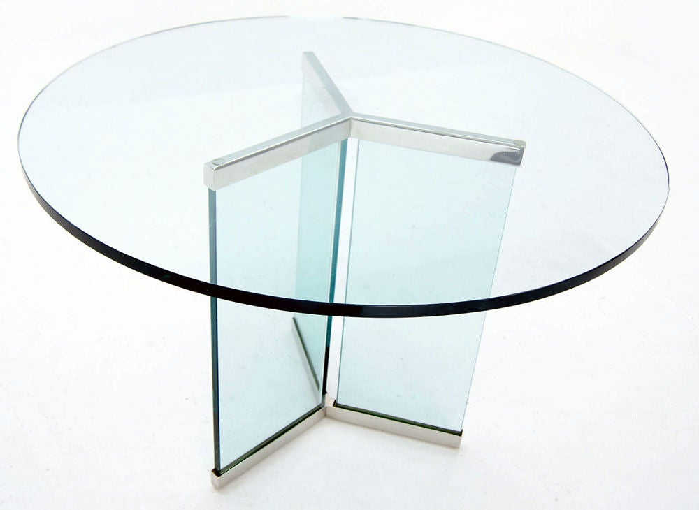 Pace Collection 34quot Thick Glass Top Center Dining Table  : 883713134419961 from www.1stdibs.com size 1000 x 730 jpeg 44kB