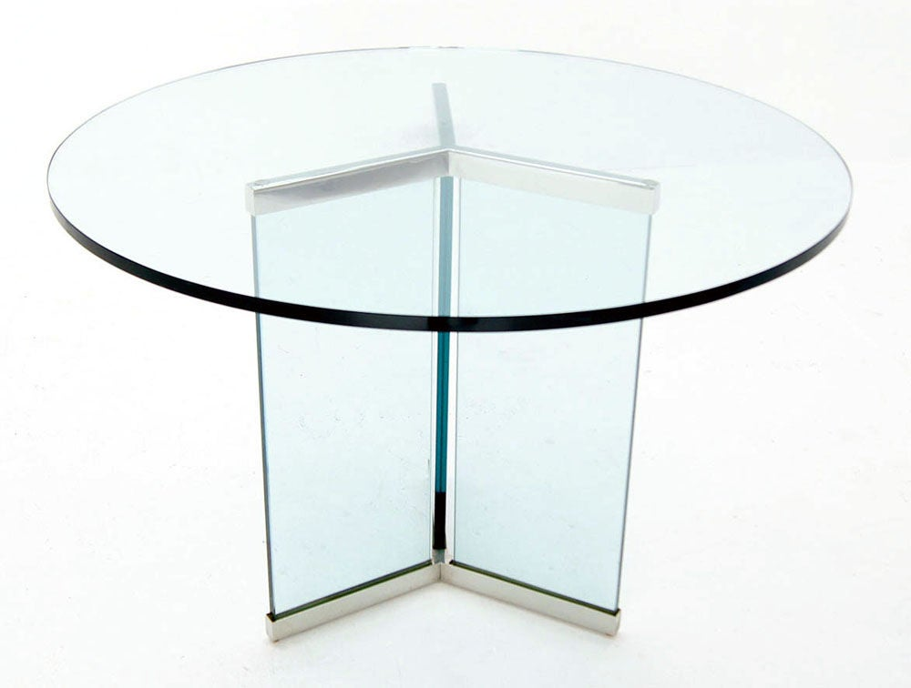 Pace Collection 34quot Thick Glass Top Center Dining Table  : 883713134419965 from www.1stdibs.com size 1000 x 756 jpeg 39kB