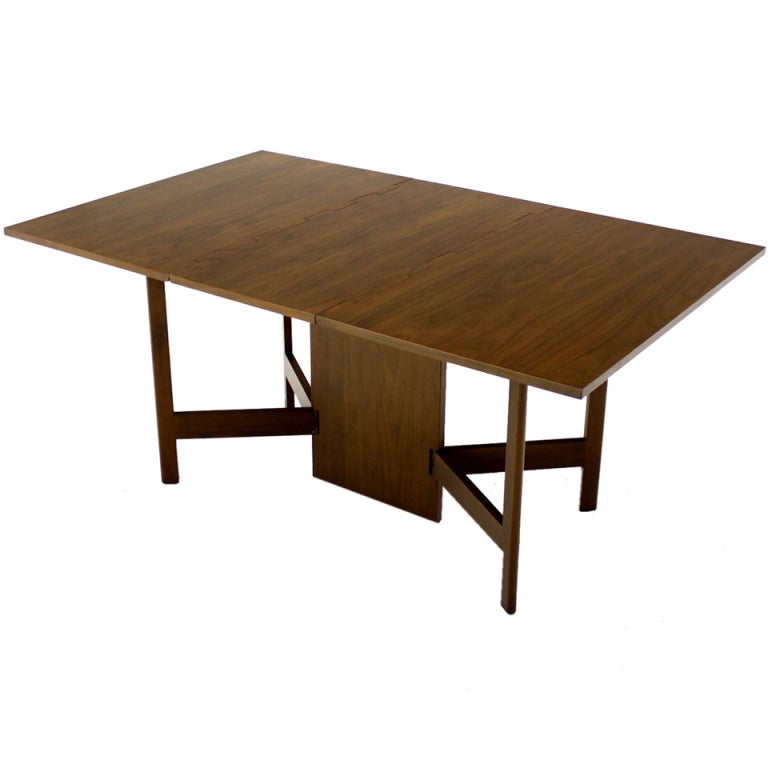 Ordinary Modern Drop Leaf Dining Table Part - 13: George Nelson For Herman Miller Mid-Century Modern Drop-Leaf Dining Table 1