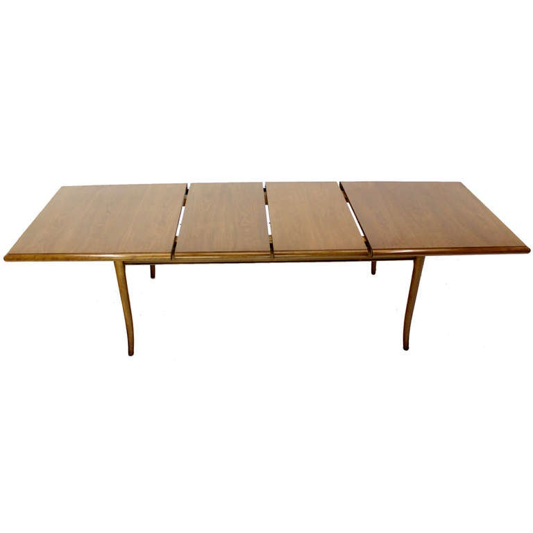 Robsjohn Gibbings for Widdicomb Mid-Century Modern Dining Table with Two Leaves