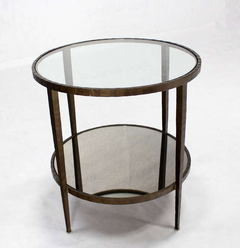 Iron base tapered legs round gueridon center table at 1stdibs for Center table legs