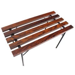 Small Slat Rosewood Bench