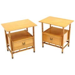 Pair of Blonde Heywood Wakefield Night Stands or End Tables