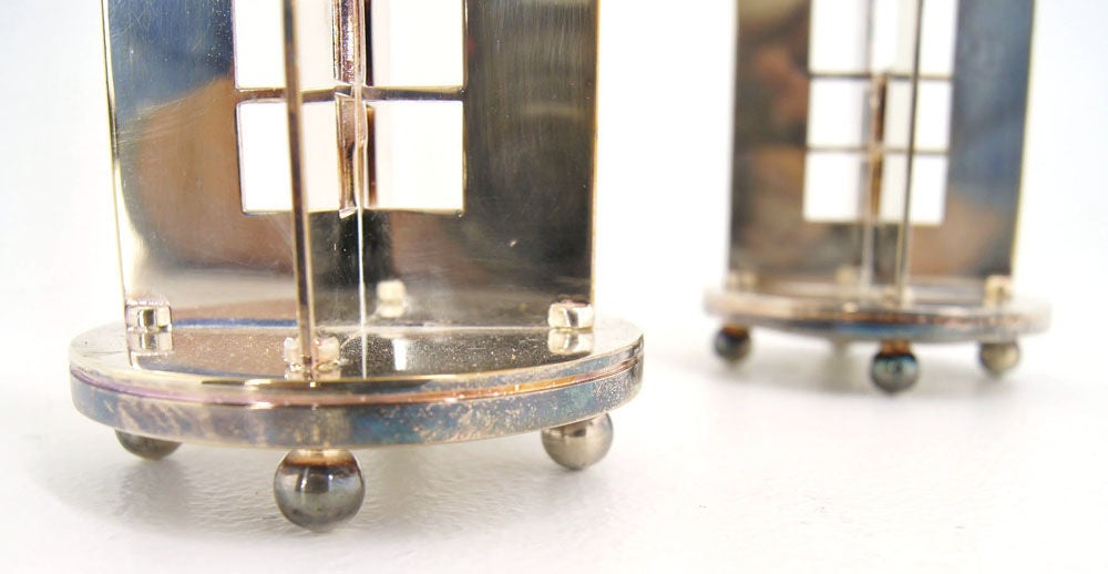 Pair of Richard Meier for Swid Powell silverplate candlesticks. image 4