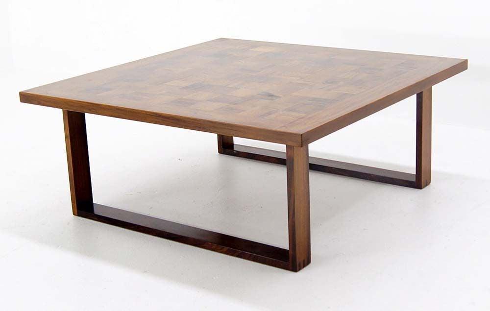 Danish Modern Parquet Rosewood Coffee Table By Finn Juhl At 1stdibs