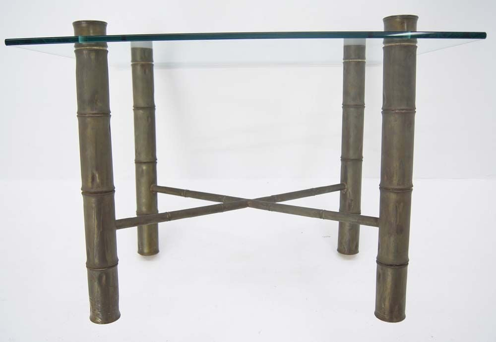Faux Bamboo Glass Top Coffee Table For Sale At 1stdibs