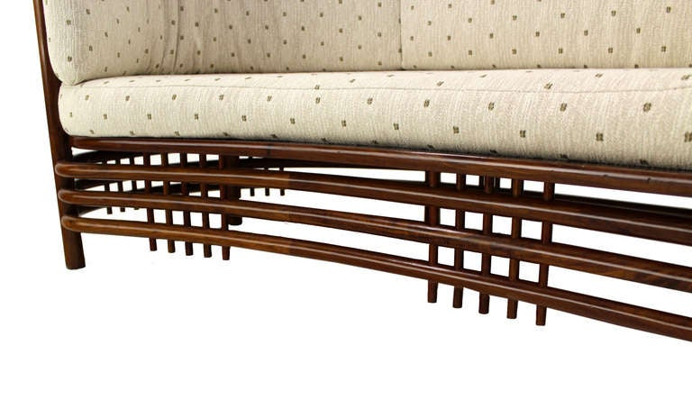 Mid-Century Modern Kidney Shape Two-Part Rosewood Sofa For Sale at ...