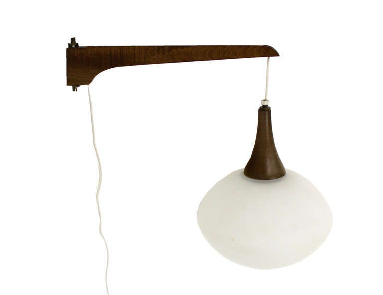 danish mid century modern wall hanging light fixture at