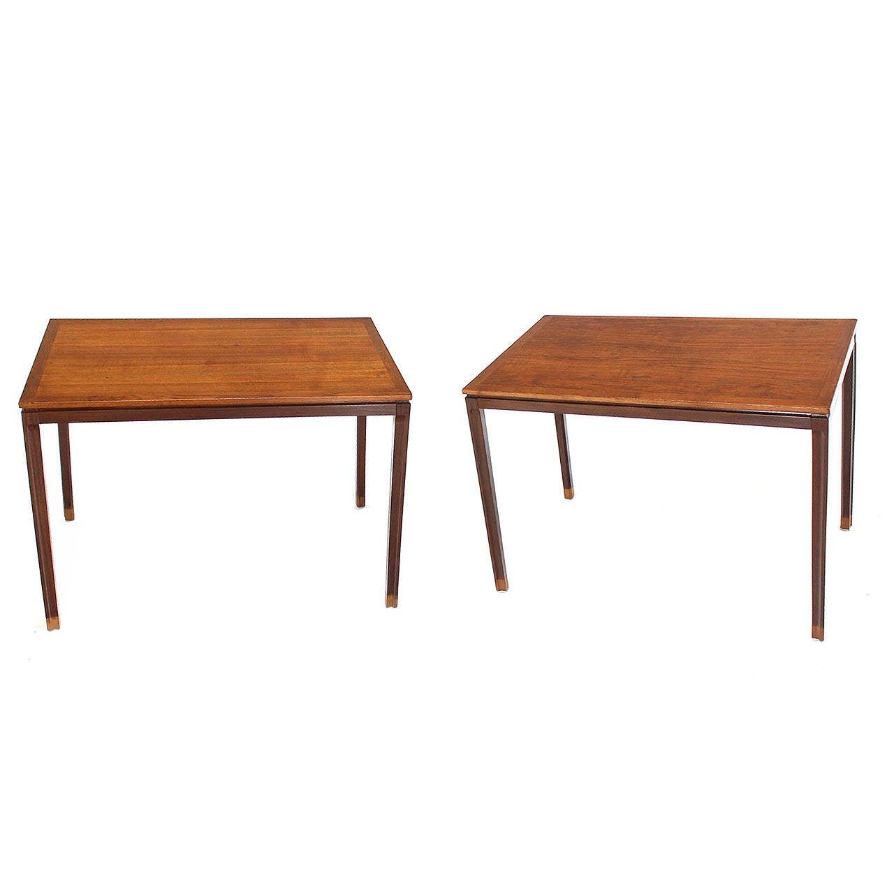 Pair of Danish Modern Teak Rectangular End Tables
