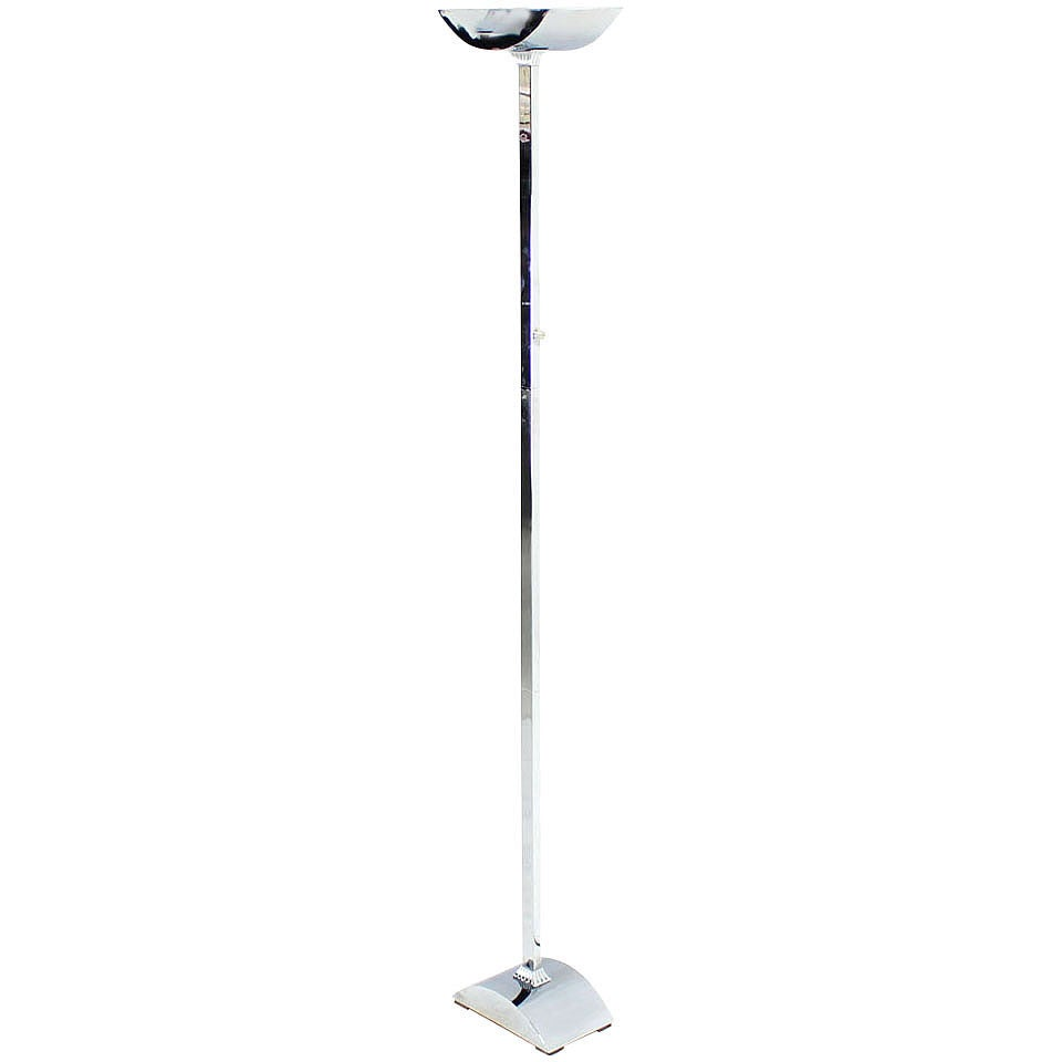 Polished Chrome Mid Century Modern Floor Lamp For Sale At