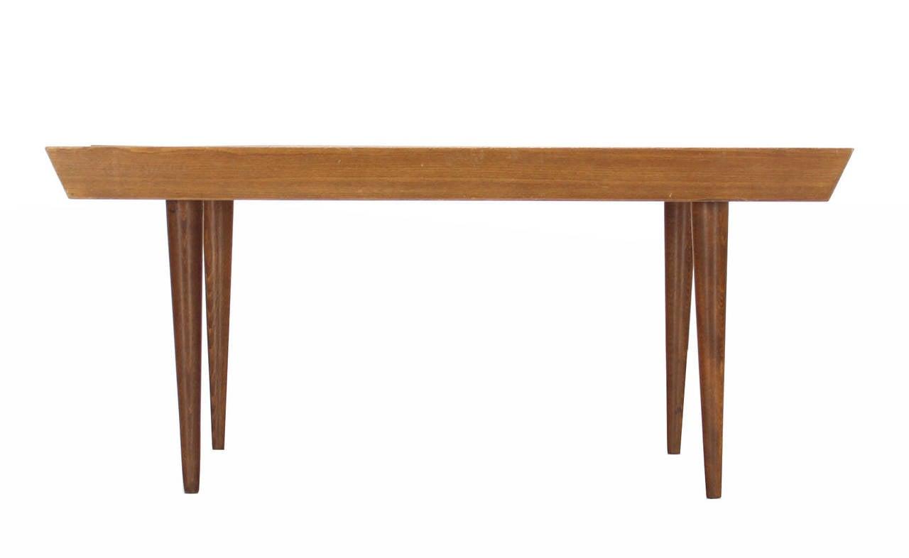 Modern Wood Bench : Danish Modern Slat Wood Bench at 1stdibs
