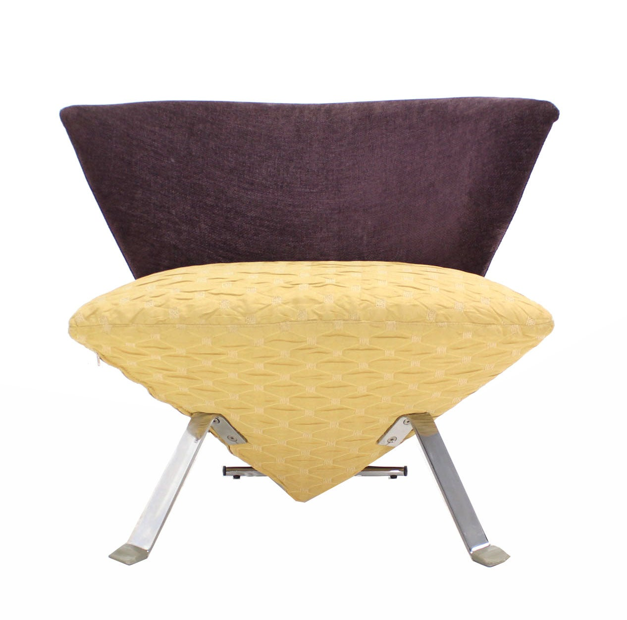 Pair of Saporiti Italian Modern Lounge Chairs For Sale at