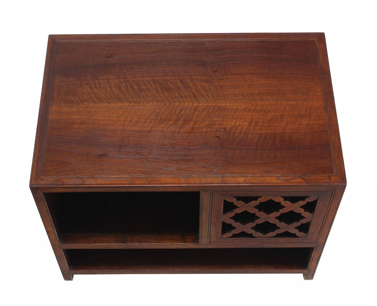 American Baker Walnut End Table Stand Accent Side Table. For Sale