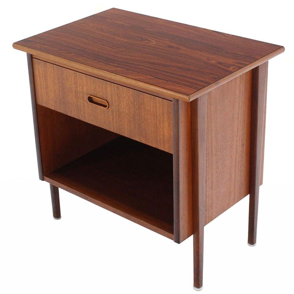 Danish Modern Teak End Table or Night Stand