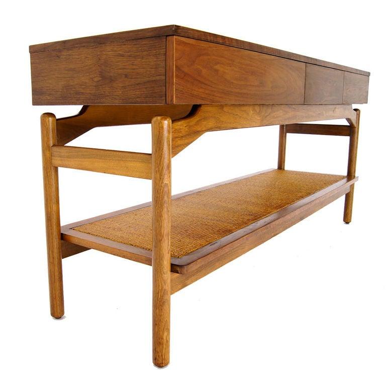 Mid Century Sofa Table: Greta Grossman Mid Century Modern Walnut Consol Sofa Table
