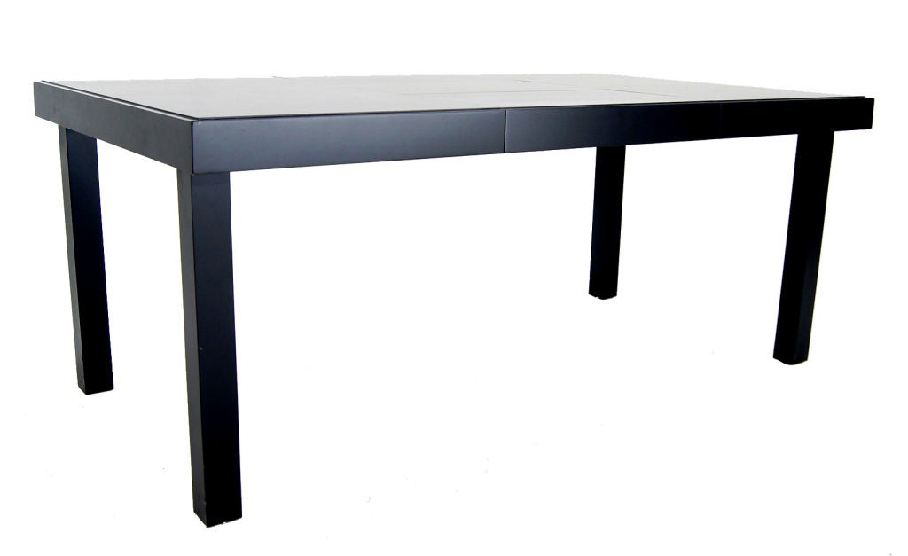 nelson herman miller primavera dining table black lacquer at 1stdibs