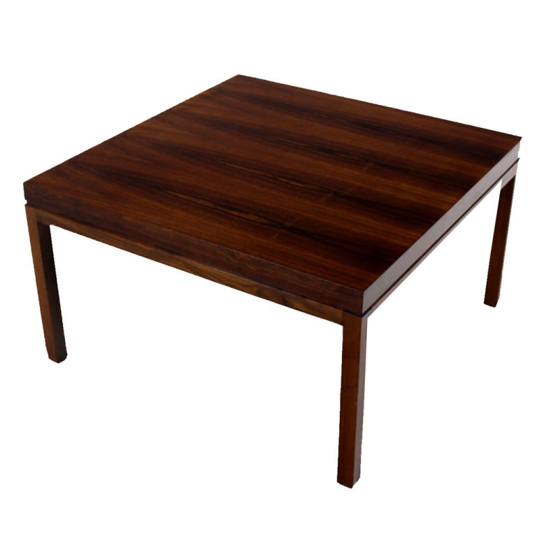 Danish Mid Century Modern Rosewood Square Coffee Table At 1stdibs