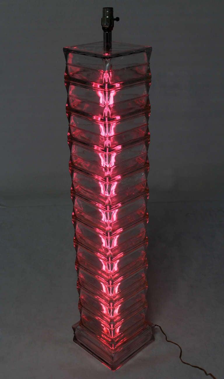 Italian glass block mid century modern floor lamp for for Glass block floor